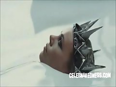 Celeb charlize theron skimpy in new snow white movie