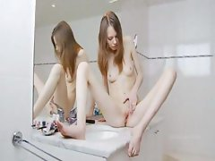 hungry sknny girl teasing for mirror