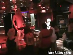 College Girls Partying And Playing With Male Strippers