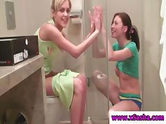 Sordid prossies with riveting furburgers love taking showers together