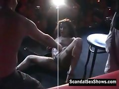 Sexy stripper slut pleases some dude
