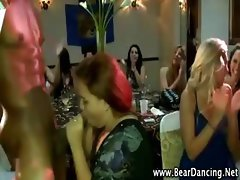 Cfnm party amateurs suck stripper cock