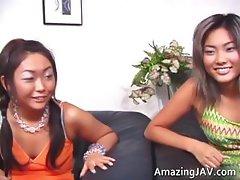 Cute asian lesbian threesome video part3