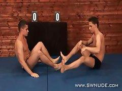 Kamil Jezek vs Nikolay Arbesov Nude Wrestling