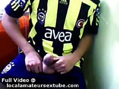 Footballer and his fan jacking off