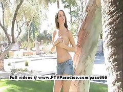 Stunning Veronica petite girl naked outdoor