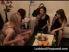 Tipsy sexy lesbians naughty at home part1