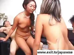 Japanese Teen Orgy with a lot of cum