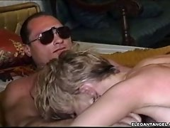 Slutty blonde Tianna puts her ass in the air getting it drilled out with fat cock