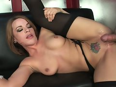Horny babe Dana DeArmond loves the monster muscle plowing her twat real good