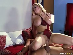 Pornstar Madison Ivy slides up and down on a rock hard nob making it really cum