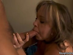 Filthy Kandi Cox pleases her man's cock making it really hard to handle
