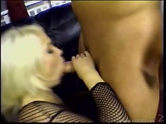 Jamie Brooks passionately sucking a massive erect cock like a lollipop