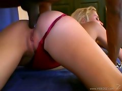 Anal lover Julie Silver takes a massive black prick deep in her tight asshole