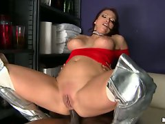 Hot momma Nikki Hunter is loving the meaty cock pleasing her tight ass hard