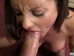 Filthy whore Valentina Cruz stuffs her mouth with a thick shaft and enjoys it
