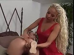 Dirty dyke Denise K and her pussy pleasing friend play the dildo game