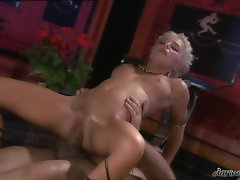Florina Rose is sliding her twat wild on a meaty pole making it explode