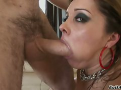 Hot abused Francesca Le gets her mouth ripped out by a monstrous cock