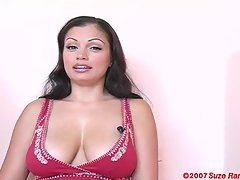 Sexy business interview with big beautiful tit Aria Giovanni.
