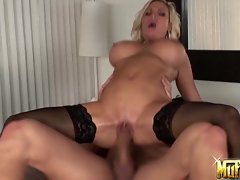 Dripping Diamond Foxx gives a big dick a good motherly fucking