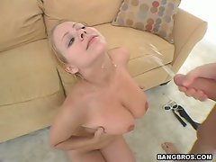 Chrissy getting fucked and then covered in hot man sticky man juice