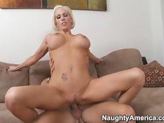 Kasey Grant loves grinding her slit on a hard throbbing cock