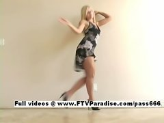 Ingenious Kylee stunning blonde babe dancing and masturbating