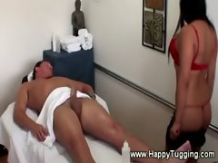 Asian masseuse loves to suck cocks