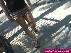Asses In Public - Sexy Pornstars Outdoor Exposing and Fucking 23