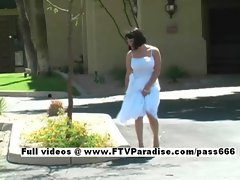 Simora fun naughty girl public flashing