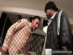 Gianni Luca gets ass pumped by big black gay sex
