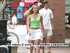 Viktoria fun naughty girl public flashing