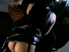 Belladonna in Leather outfit