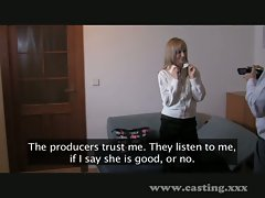 Casting - Very happy blonde enjoys anal