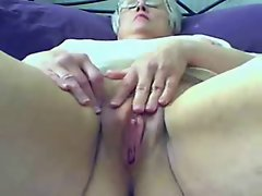 Nasty fat granny play on cam. Amateur Older