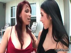 Two horny girlfriends love making part3