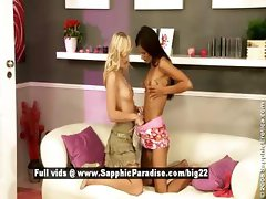 Heaven and Klara from sapphic erotica lesbian girls undressing