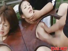 Pal drills Japanese chick