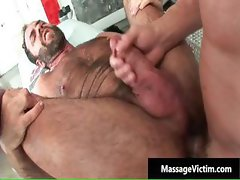 Hot and horny dude gets the massage part4