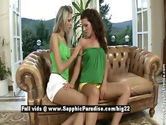 Brandy and Dominika from sapphic erotica lesbian girls teasing