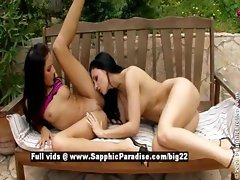 Anitta and Aletta from sapphic erotica lesbian girls toying