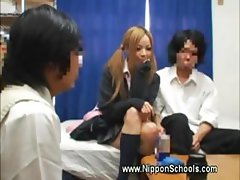 Young asian school hotty lured into sex