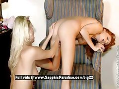 Heaven and Crystal lesbian babes fisting in the office