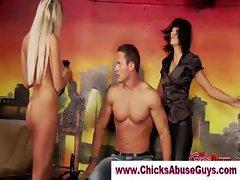 Femdom naughty stripper slut dominates loser