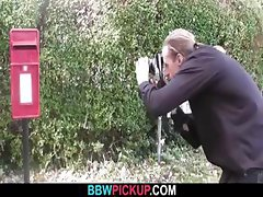 Photographer tricks BBW into sex
