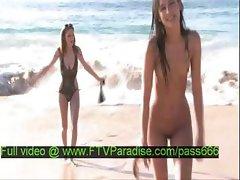 Intelligent Gorgeous Crazy Girls On The Beach