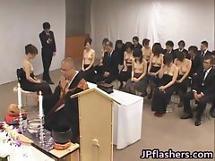 Asian girls go to church half nude part2