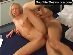 Daddy and his cute daughter outdoor