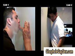 Straight guy tricked into gay blowjob at the gloryhole